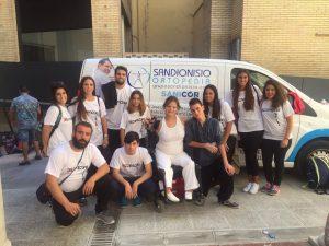 Ana María y Antonio junto a otros miembros del C.D. Anpehi./ Cedida
