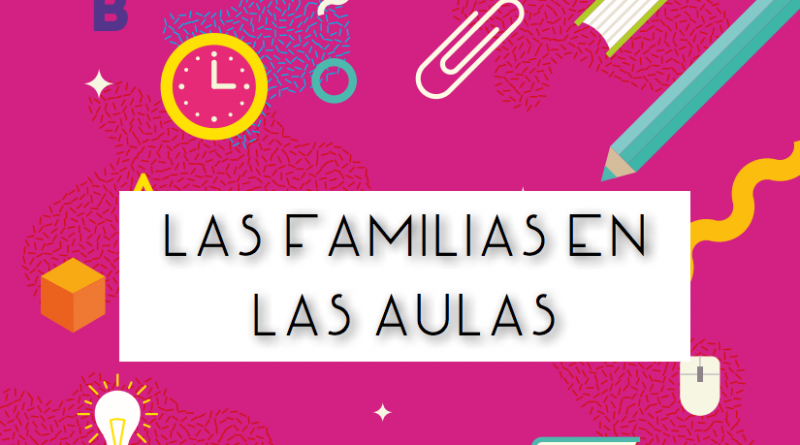Detalle de la portada de la guía 'Las familias en las aulas'.