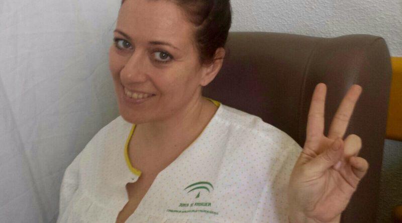 Susana Vázquez, afectada por el anticoncetivo Essure, después de que se lo extrajesen./ Cedida
