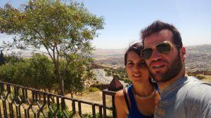 El periodista y ex futbolista, Carlos Matallanes, junto a Marta, su pareja, hace unos años antes de ser diagnoticado de ELA./ Cedida