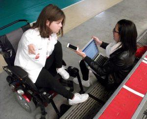 Ana María Valle Sanz, durante la entrevista en el pabellón deportivo donde se encuentra el 'dojo' del Club Deportivo Anpehi del que forma parte.